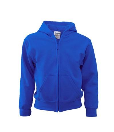 Full Zip Blend Youth Hooded Kids Sweater 18600B,  Gildan