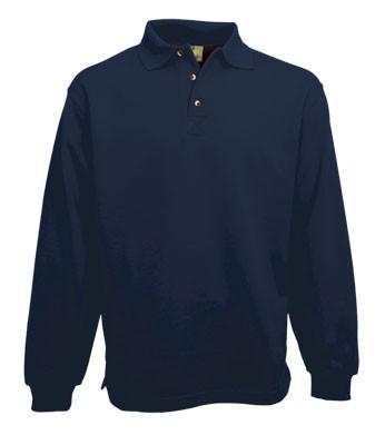 Polo Sweater Open Hem 3213, Lemon & Soda
