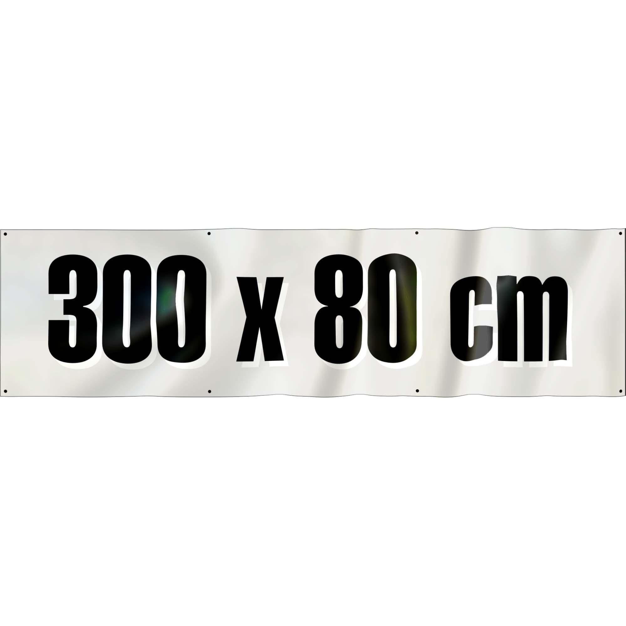Spandoek 300 x 80 cm ( frontlit bisonyl )
