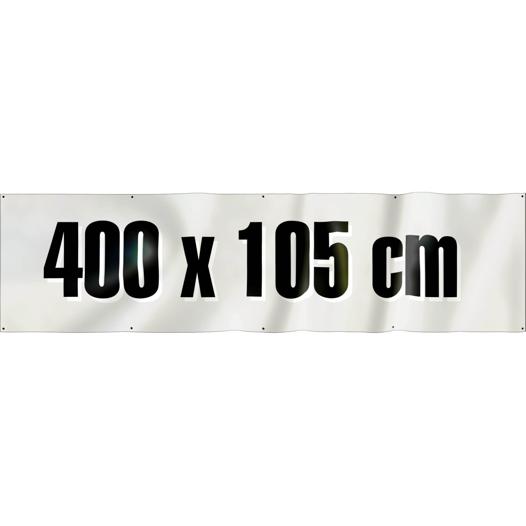 Spandoek 400 x 105 cm ( frontlit bisonyl )