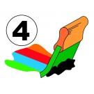 Zeefdruk, plastisol, 4 kleuren of fullcolor, op T-shirts
