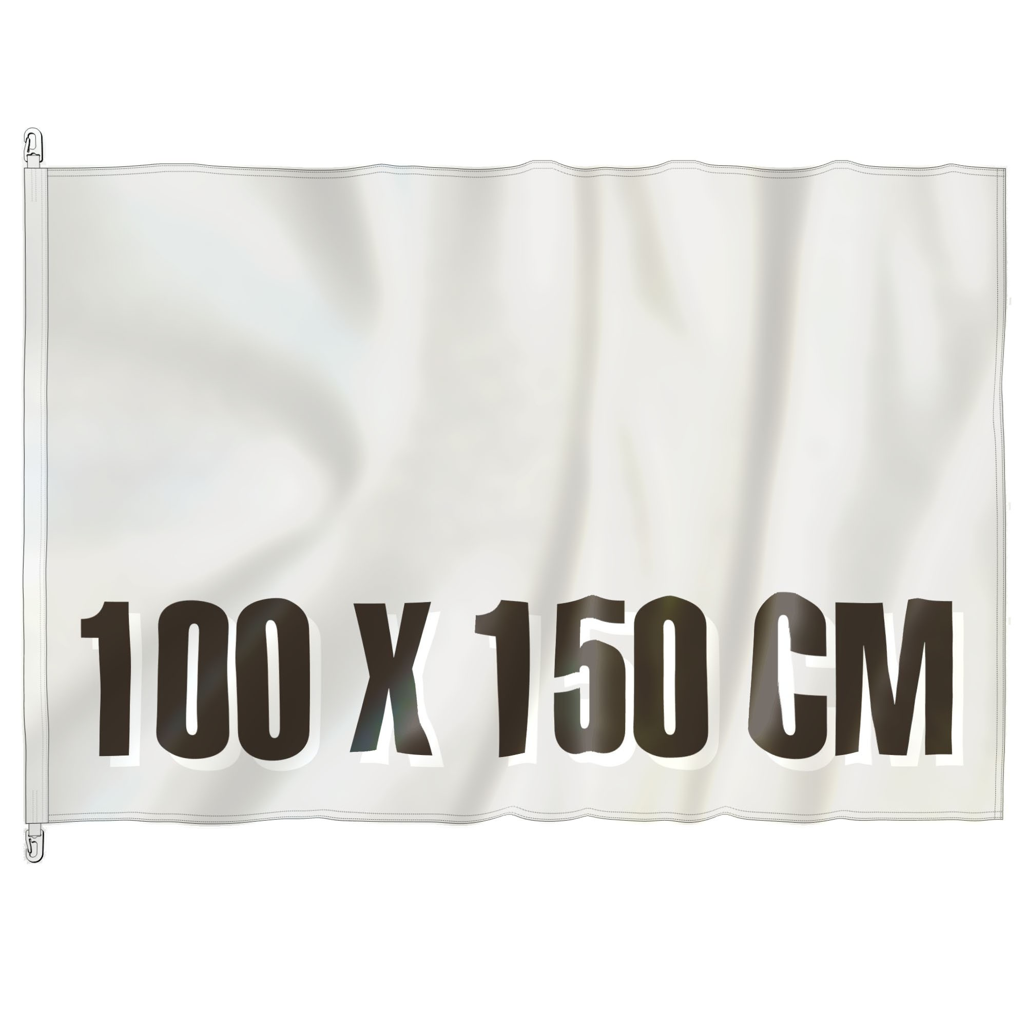 Mast Vlag 100 cm x 150 cm, fullcolor, glanspolyester 120 gr/m2