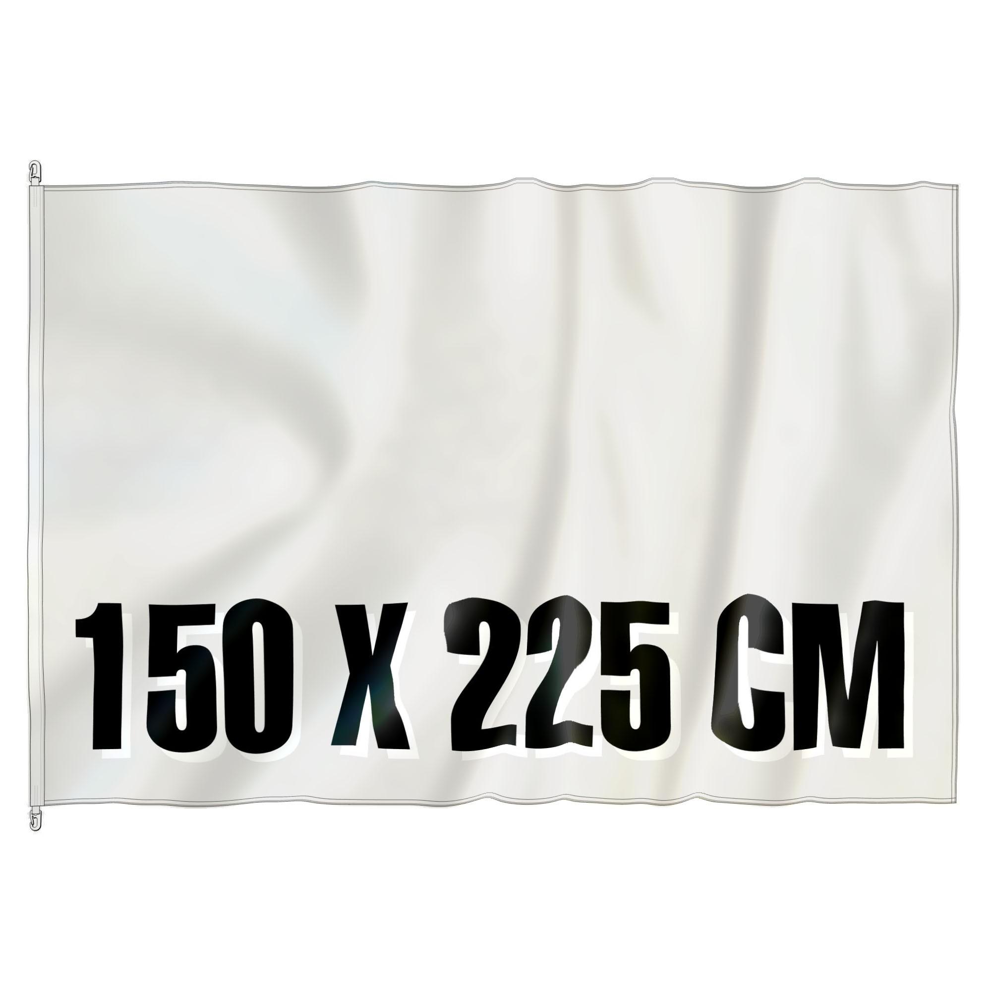 Mast Vlag 150 cm x 225 cm, fullcolor, glanspolyester 120 gr/m2