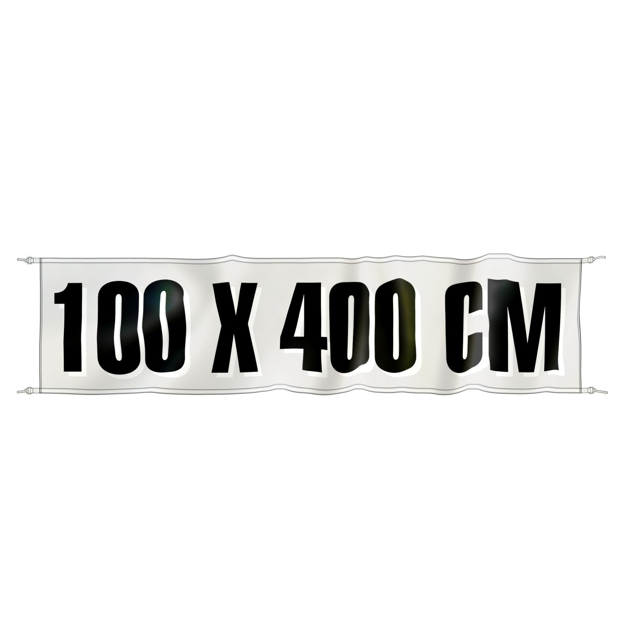 Spandoek 400 cm x 100 cm, fullcolor, glanspolyester 120 gr/m2